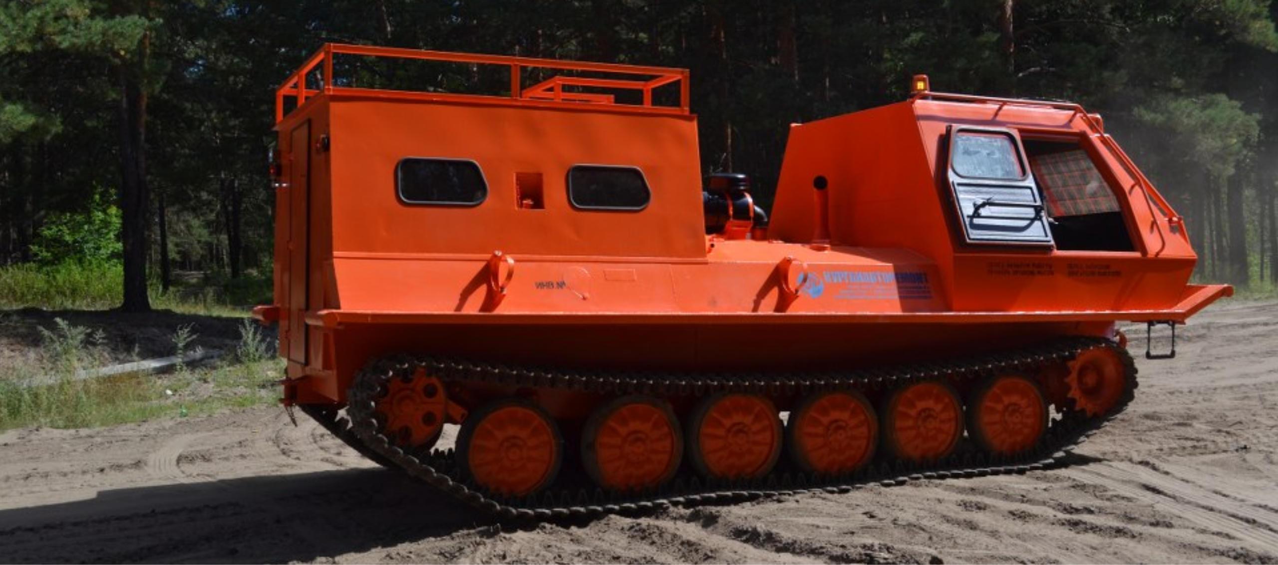 Снегоболотоход КТМ-10Г грузопассажирский с кунгом