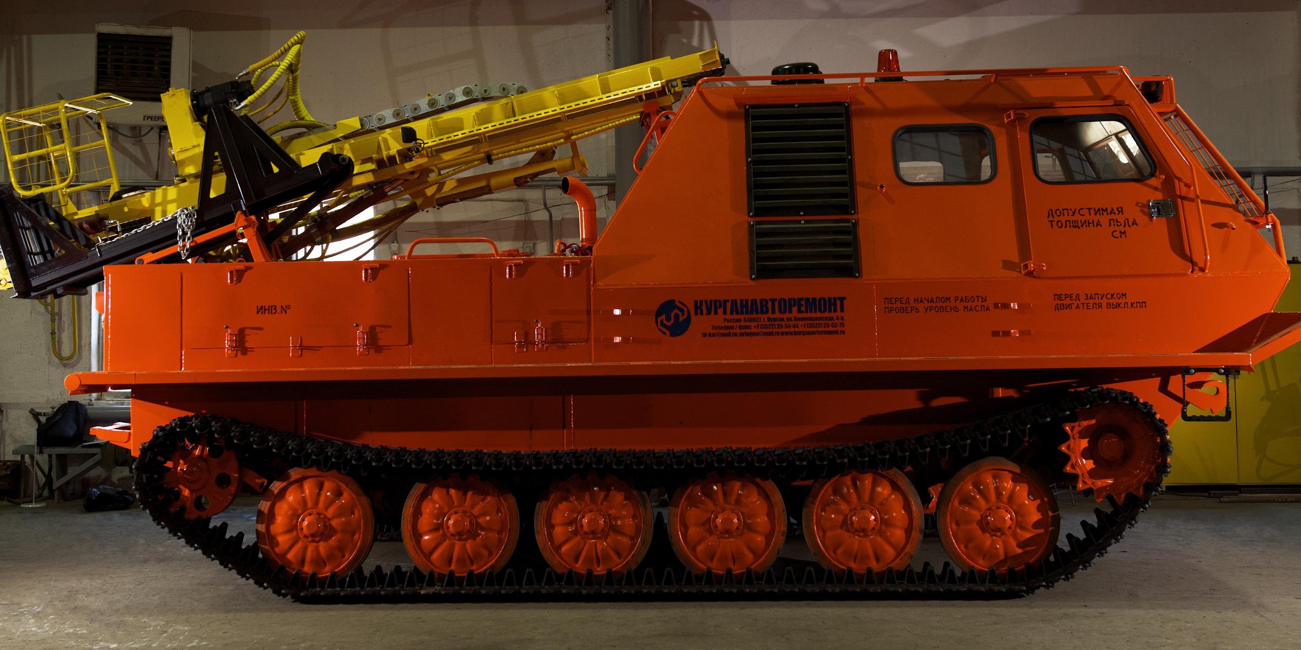 Установка буровая гидромеханизированная УБГМ-1А с продувкой на базе многоцелевого снегоболотохода КТМ-12В