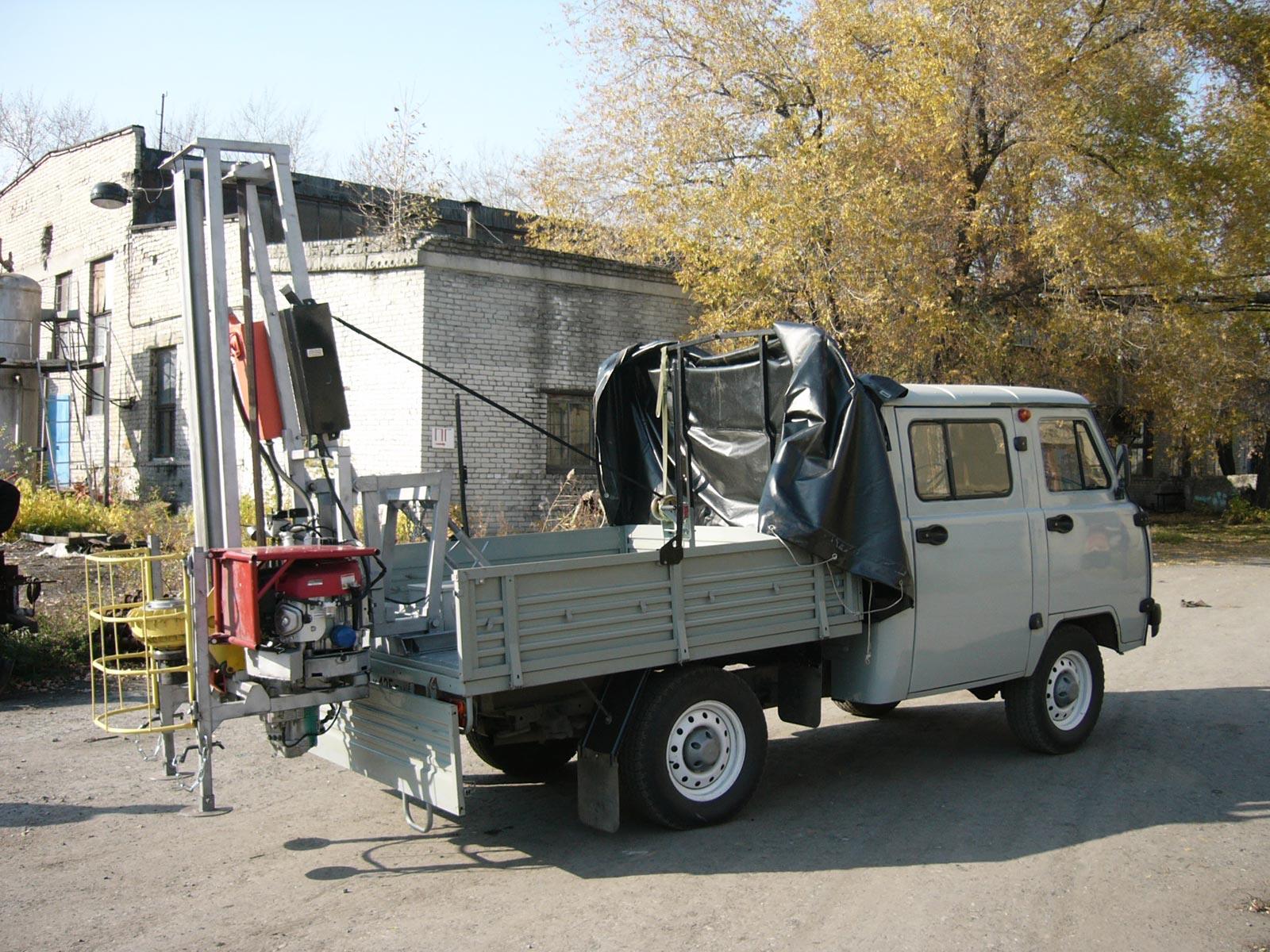 Установка буровая шнековая малогабаритная УБШМ-1-20 на базе УАЗ Фермер